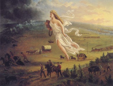 """American Progress,"" John Gast, 1872"