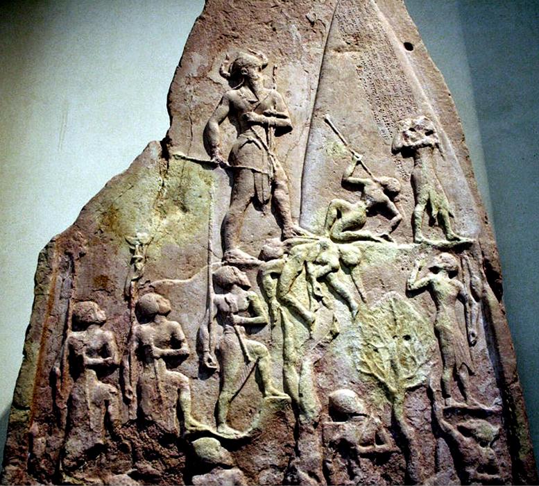 victory stele of naram sin Armię do ataku prowadzi sam król naram-sin, ku któremu skierowane są oczy wszystkich żołnierzy i pokonanych wrogów  victory stele of naram-sin.
