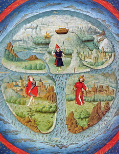 Flat Earth Map, 15th C