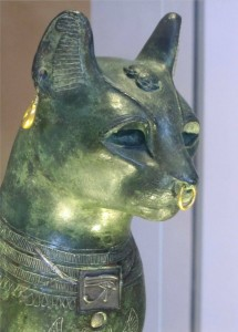 Bronze Cat, ca 500 BCE, photo Glenn Ashton