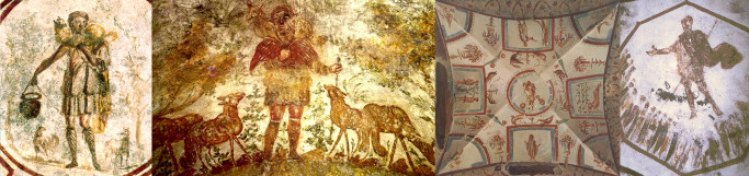 Early catacomb images of the Good Shepherd