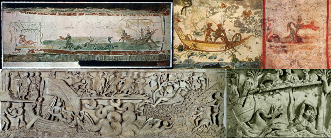 Early catacomb images and tomb carvings of Jonah
