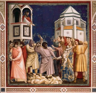 """The Holy Innocents"" by Giotto, 14th C"