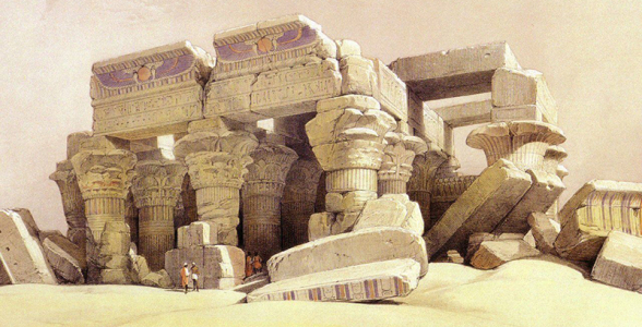David_Roberts_The_Temple_Of_Kom_Ombo_