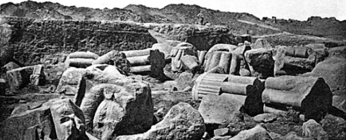 Fallen columns at Bubastis
