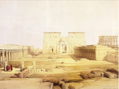 Forecourt, Temple of Isis at Philae