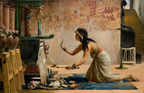 "John Reinhard Weguelin, ""The Obsequies of an Egyptian Cat,"" 1886"