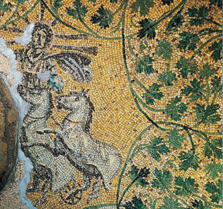 Christ as Sol Invictus, mosaic from 3rd C Vatican grottoes