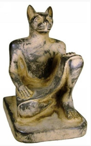 GoddessBastet_BlackLimestone_300 BC_Ptolemaic
