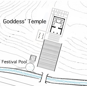 Author's imagined plan of Goddess' Temple
