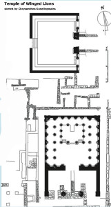Archaeological plan of excavated ruins