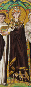 Empress Theodora in royal purple, 6th C