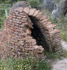Old brick kilns in Spain