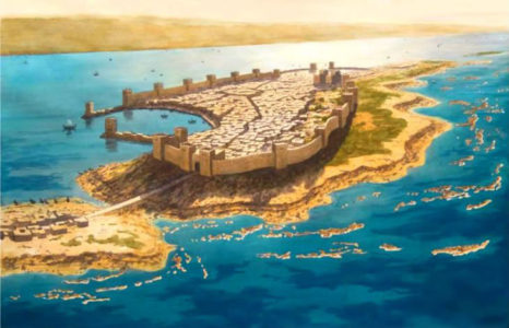 Artist's Reconstruction of Tyre before Alexander's conquest