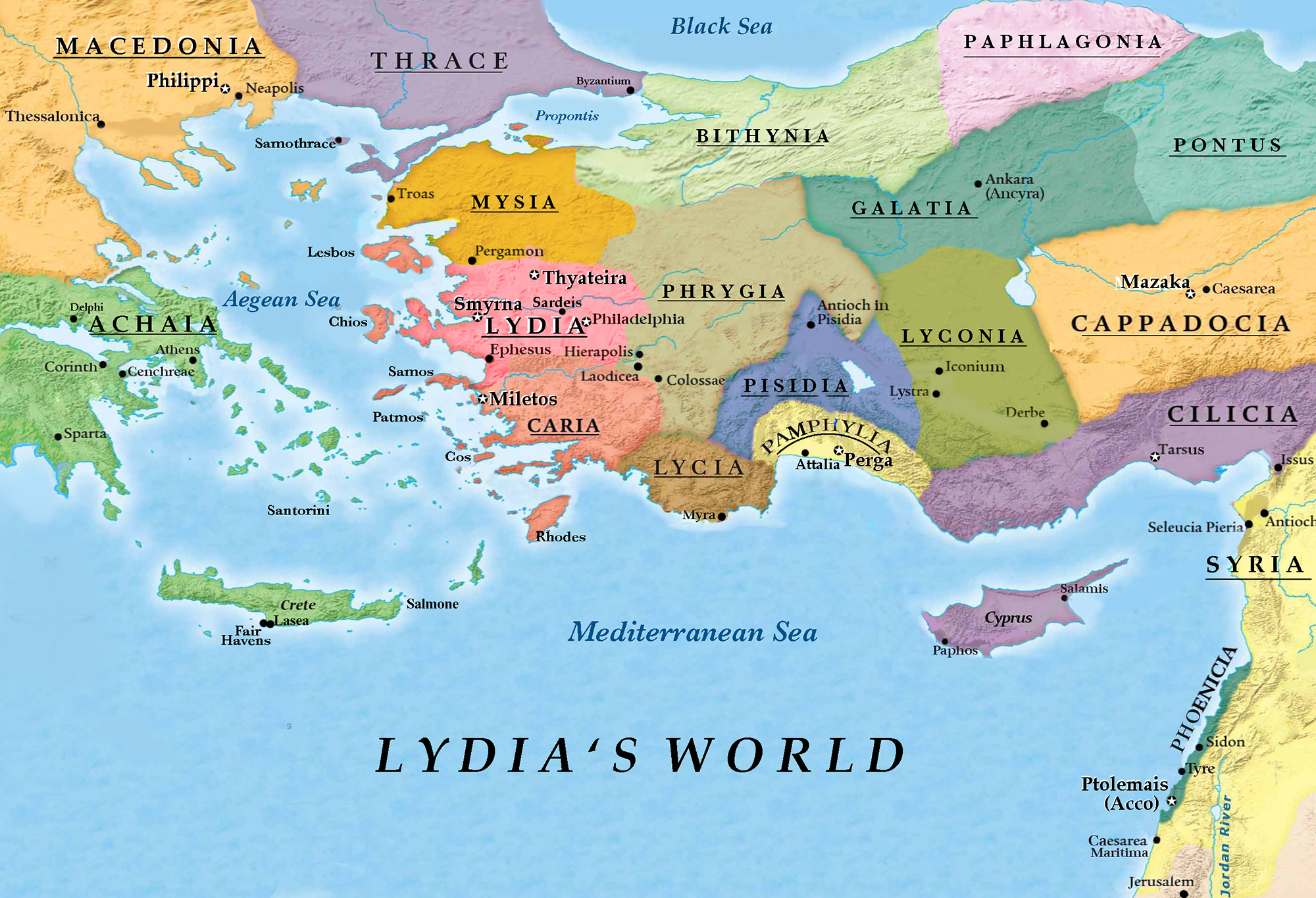 1st Century World Map.Maps From Yeshuas Loom C L Francisco